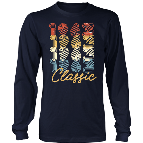 Men's 55th Birthday Gift Vintage 1963 Retro Classic Long Sleeve T-Shirt
