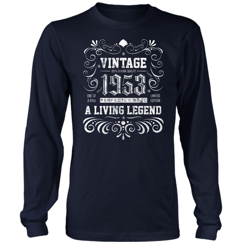 Men's 65th Birthday Gift - Vintage 1953 Long Sleeve T-Shirt