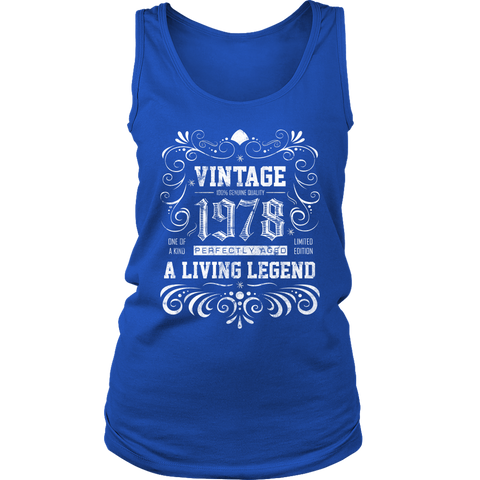 Women's 40th Birthday Gift - Vintage 1978 Tank Top