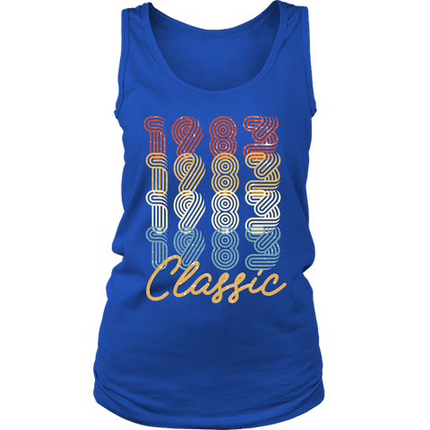 Women's 35th Birthday Gift Vintage 1983 Retro Classic Tank Top