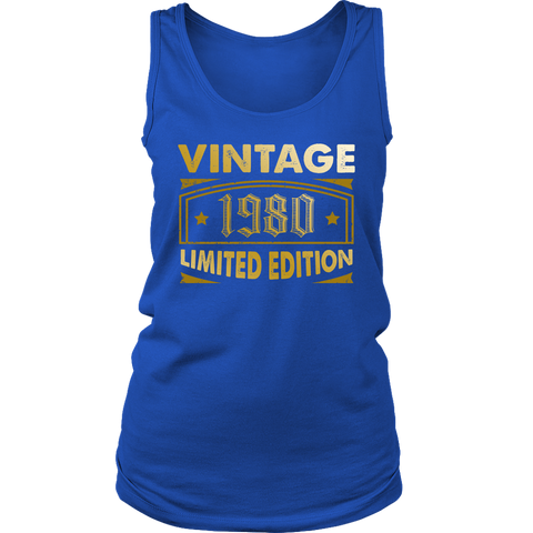Women's Vintage 1980 38 Year Old Birthday Gift Tank Top