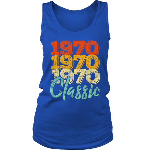 Women's Vintage 1970 Classic 48th Retro Birthday Tank Top