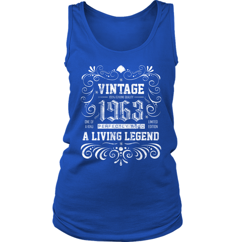 Women's 55th Birthday Gift - Vintage 1963 Tank Top