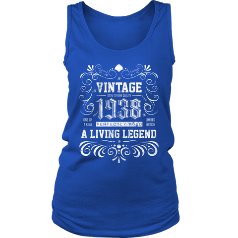 Women's 80th Birthday Gift - Vintage 1938 Tank Top