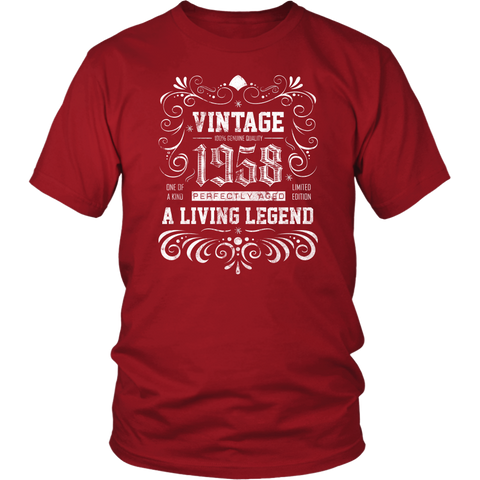 Men's 60th Birthday Gift - Vintage 1958 T-Shirt