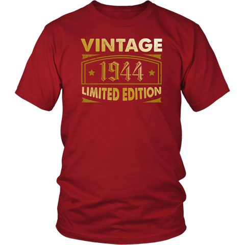 Men's Vintage 1944 74 Year Old Birthday Gift T-Shirt