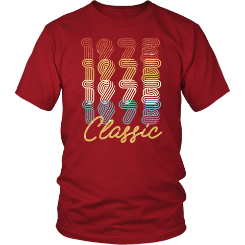 Men's 43rd Birthday Gift Vintage 1975 Retro Classic T-Shirt