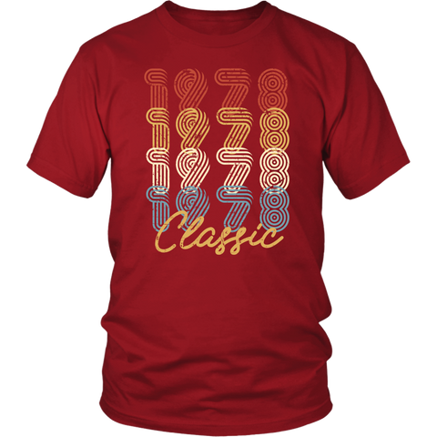 Classic 1978 T-Shirt - 40 Year Old 40th Birthday Gift