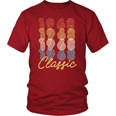 Men's 50th Birthday Gift Vintage 1968 Retro Classic T-Shirt