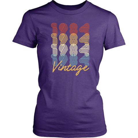Women's 34th Birthday Gift 1984 Vintage Retro T-Shirt