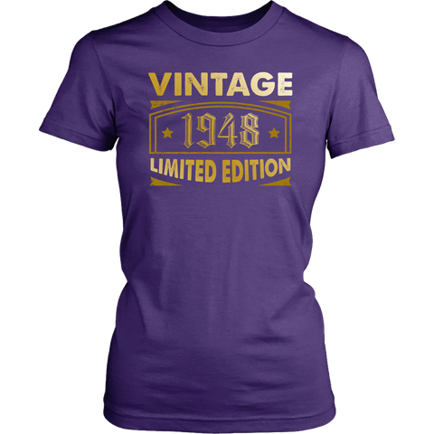 Women's Vintage 1948 70 Year Old Birthday Gift T-Shirt
