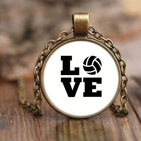 I Love Volleyball Necklace