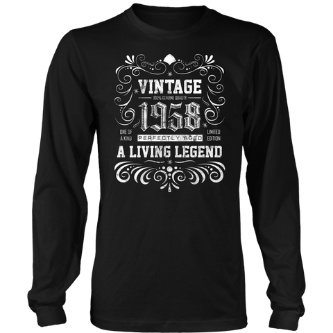 Men's 60th Birthday Gift - Vintage 1958 Long Sleeve T-Shirt