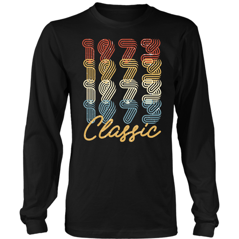 Men's 45th Birthday Gift Vintage 1973 Retro Classic Long Sleeve T-Shirt