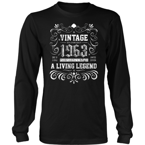 Men's 55th Birthday Gift - Vintage 1963 Long Sleeve T-Shirt