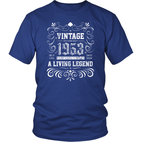Men's 65th Birthday Gift - Vintage 1953 T-Shirt