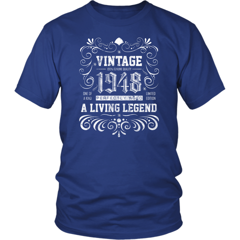 Men's 70th Birthday Gift - Vintage 1948 T-Shirt