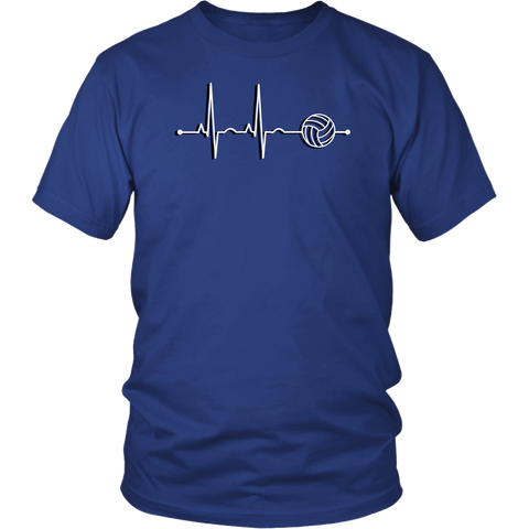 Men's Volleyball Heartbeat T-Shirt - Sports Gift