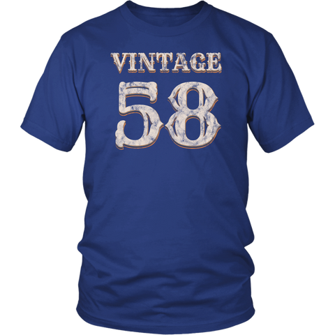 Men's Vintage 58 Tshirt 60th Birthday Gift for 60 Year Old