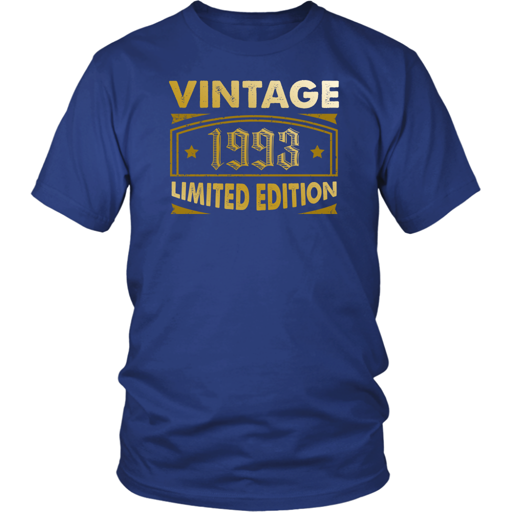 Mens Vintage 1993 25 Year Old Birthday Gift T Shirt