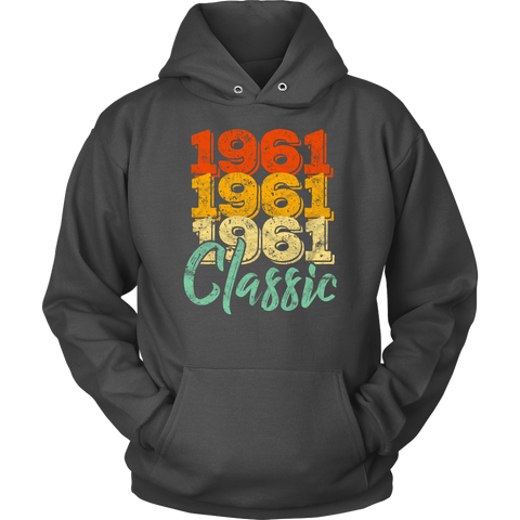 Vintage 1961 Classic 57th Retro Birthday Hoodie