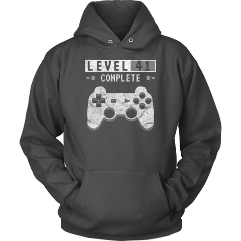 Level 41 Complete Hoodie - 41st Video Gamer Birthday Gift