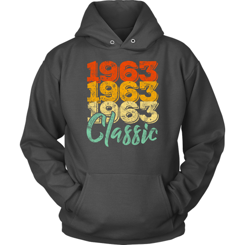 Vintage 1963 Classic 55th Retro Birthday Hoodie