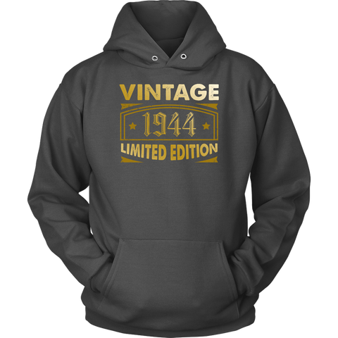 Vintage 1944 74 Year Old Birthday Gift Hoodie