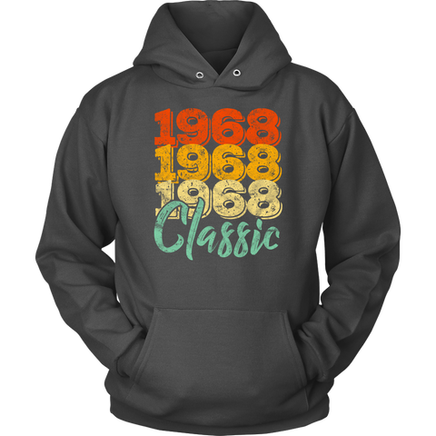 Vintage 1968 Classic 50th Retro Birthday Hoodie