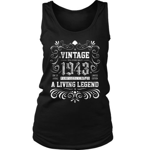 Women's 75th Birthday Gift - Vintage 1943 Tank Top