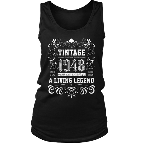 Women's 70th Birthday Gift - Vintage 1948 Tank Top