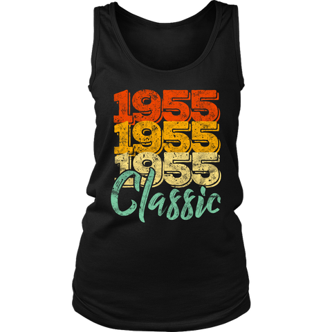 Women's Vintage 1955 Classic 63rd Retro Birthday Tank Top