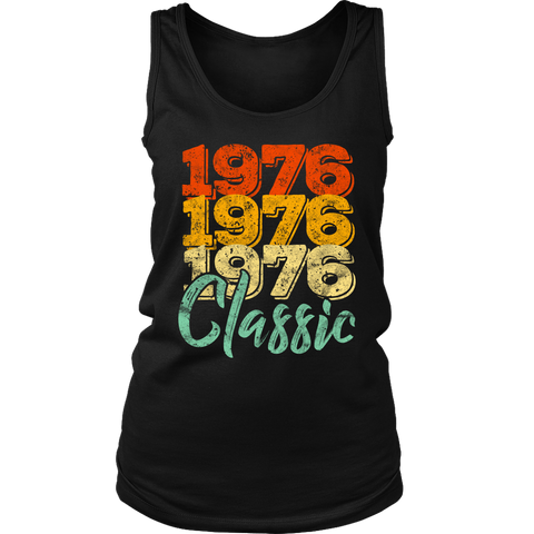 Women's Vintage 1976 Classic 42nd Retro Birthday Tank Top