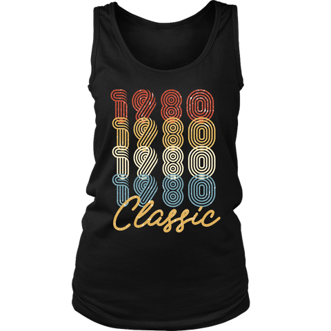 Women's 38th Birthday Gift Vintage 1980 Retro Classic Tank Top