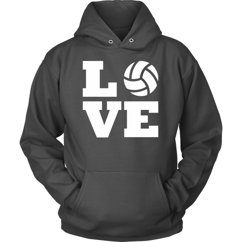 I Love Volleyball Hoodie - Perfect Gift for Volleyball Fans, Unisex Hoodie