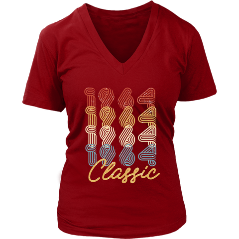 Women's 54th Birthday Gift Vintage 1964 Retro Classic V-Neck T-Shirt
