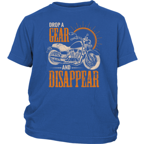 Kids Drop A Gear And Disappear T-Shirt - Funny Gift