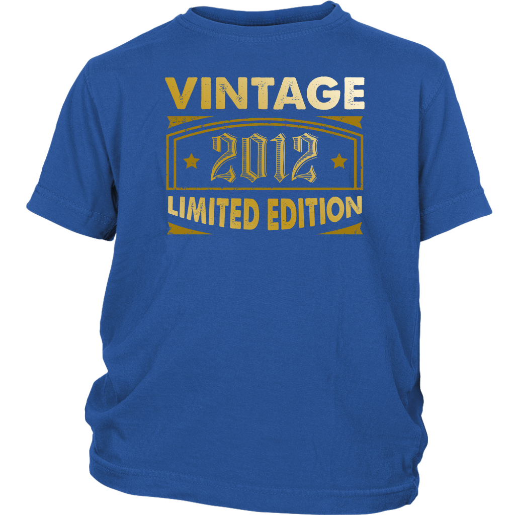 Kids Vintage 2012 6 Year Old Birthday Gift T Shirt