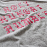 HHH Script Tee (Grey/Red)
