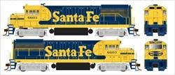 BT25100 Bowser GE U25B, Santa Fe Warbonnet (3 Cab#s Available w/DCC & Sound)
