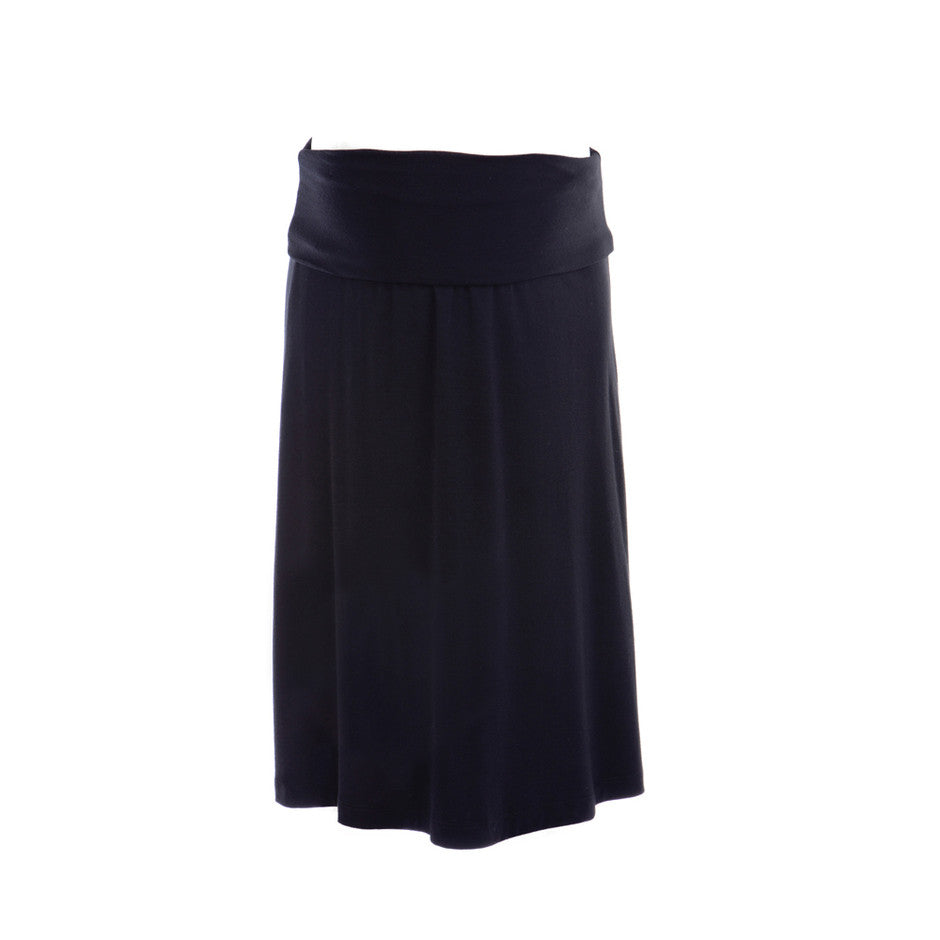 Ninth Moon  Maternity - Black Knee Length Maternity Skirt