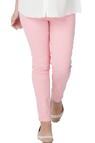 Ripe Maternity - Coloured Crop Pant (Peach)