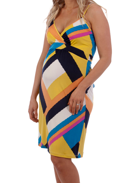 Ninth Moon Maternity - Bright Print Dress