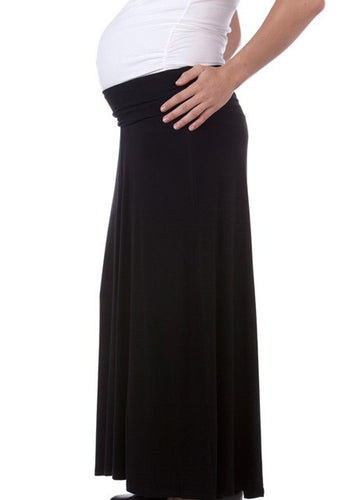 Ninth Moon Maternity - Black Maternity Maxi Skirt