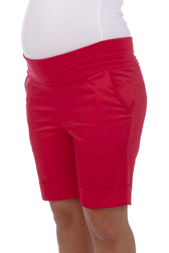 Ninth Moon Maternity - Red Maternity Shorts