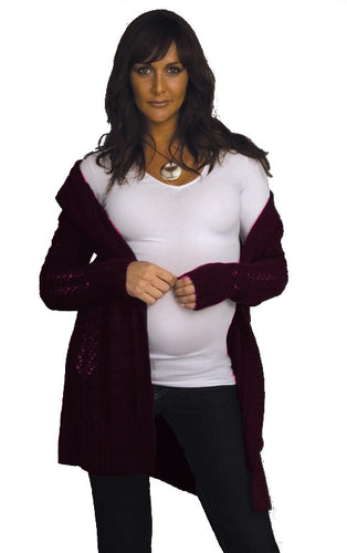 Ripe Maternity - Faber knit cardigan in Bilberry