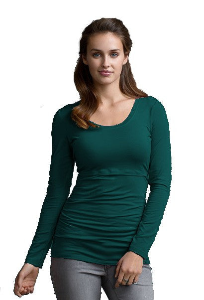 Boob Design - Ruched Long Sleeve Maternity / Nursing Top (XL only)