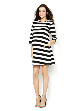Zula Maternity - Stripe Maternity Mini Dress