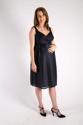 Szabo Maternity - Crush Bodice Dress - BLACK