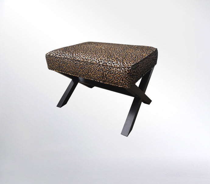 Cross Stool - Leopard